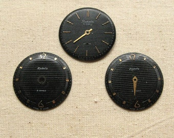Vintage Watch Faces, Watch Pieces Parts, Time Art Supplies, Watch Face Steampunk, Watch Faces Jewelry, Small Watch Faces, Time Piece Supply