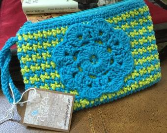 Handmade Crochet Clutch, Spring Clutch, Crochet Wristlet, Chic Summer Crochet Clutch, Crochet Purse, Cute Crochet Wristlet, Crochet Clutch