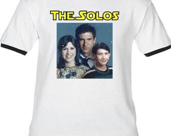 THE SOLOS Family Portrait - Premium T-Shirt -Many Color Options-Ringers/Cottons/Blends/Tank Tops- wars han solo princess leia kylo ren star