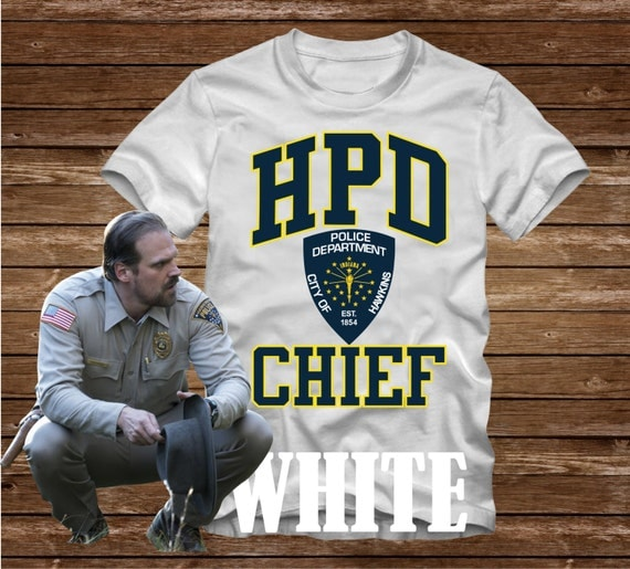 HPD CHIEF Hawkins Police Department T Shirt Adult Sizes S 3Xl