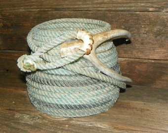 Blue Lariat Basket featuring a Dree Horn accent. B#165
