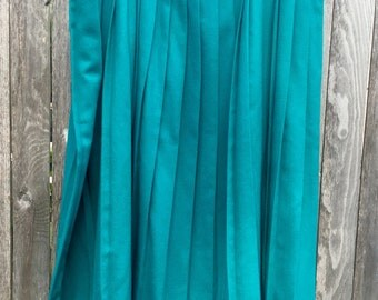 Cutie retro teal xxl wool pleated skirt ultimate pinup babe!!