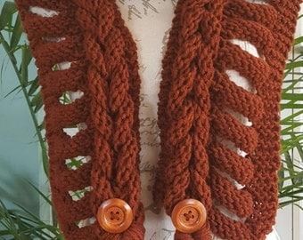 Stylish burning rust scarf