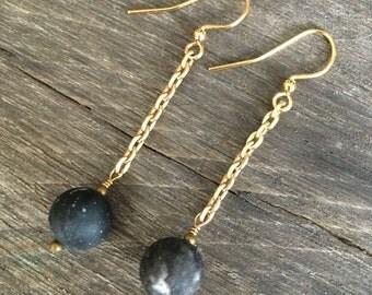 Reinvented Black Stone Earrings