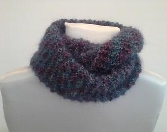 Sciarpa di lana infinito sciarpa uncinetto regalo sciarpa per la mamma  regalo di compleanno blue Winter accessories