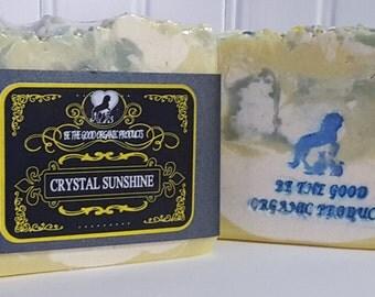 Natural Handmade Soap  -- Crystal Sunshine Natural Handmade Soap --