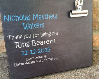 Ring Bearer Thank You Gift, Thank You For Being Our Ring Bearer, Personalized Picture Frame, Wedding Party Gift