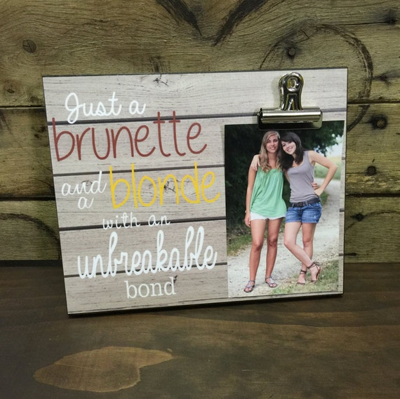 Wedding Gift Ideas For Your Best Friend: Personalized Picture Frame Gift For Sister Gift For Best
