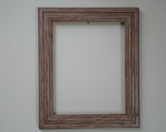 Upcycled Solid Wood 8 X 10 Distressed Mauve, Rustic, Shabby Chic Picture Frame