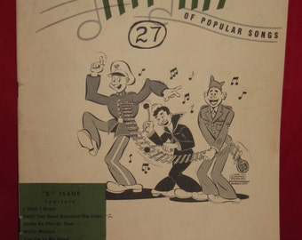 "Army Navy Hit Kit of Popular Songs, military songbook, ""X"" Isuue, WWII music"