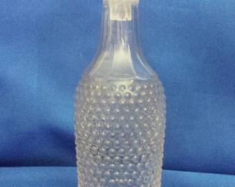 Small clear Glass vinerette Bottle .