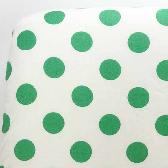 Crib Sheet >> Dots in Green >> Baby Toddler Bedding >> ready-to-ship MIX