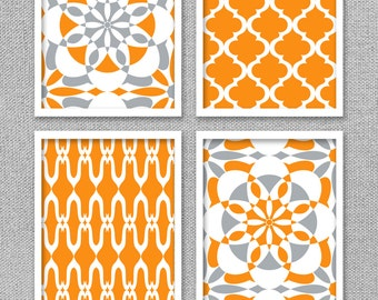Printable Wall Art, Printable Art, Printable Art Set, Orange Wall Art, Orange  Wall Decor, Digital Prints, INSTANT DOWNLOAD Art, Home Decor