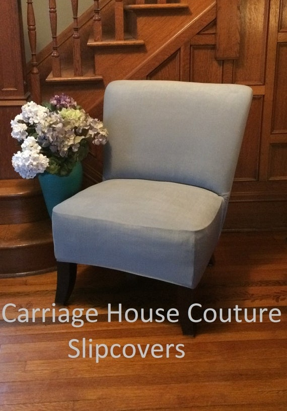 Slipcover Suede Chair Cover For Armless By