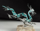 Handblown Glass Dragon Sculpture
