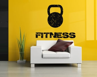 Wall Decal Room Sticker Bedroom fitness gym workout crossfit bodybuilding bo2959