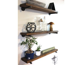 Industrial pipe shelving, Reclaimed wood shelf, Pipe shelves, Pipe shelving, Floating shelf, Rustic shelf, Barn wood