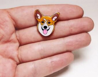 Corgi Dog Pin Pembroke Welsh Corgi dog pin dog Brooch Dog pin Animals pin Gift idea