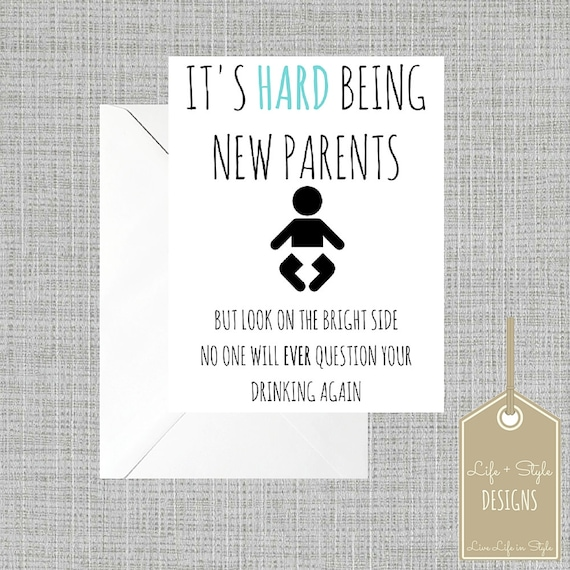 baby card modern baby shower card funny baby shower mom card