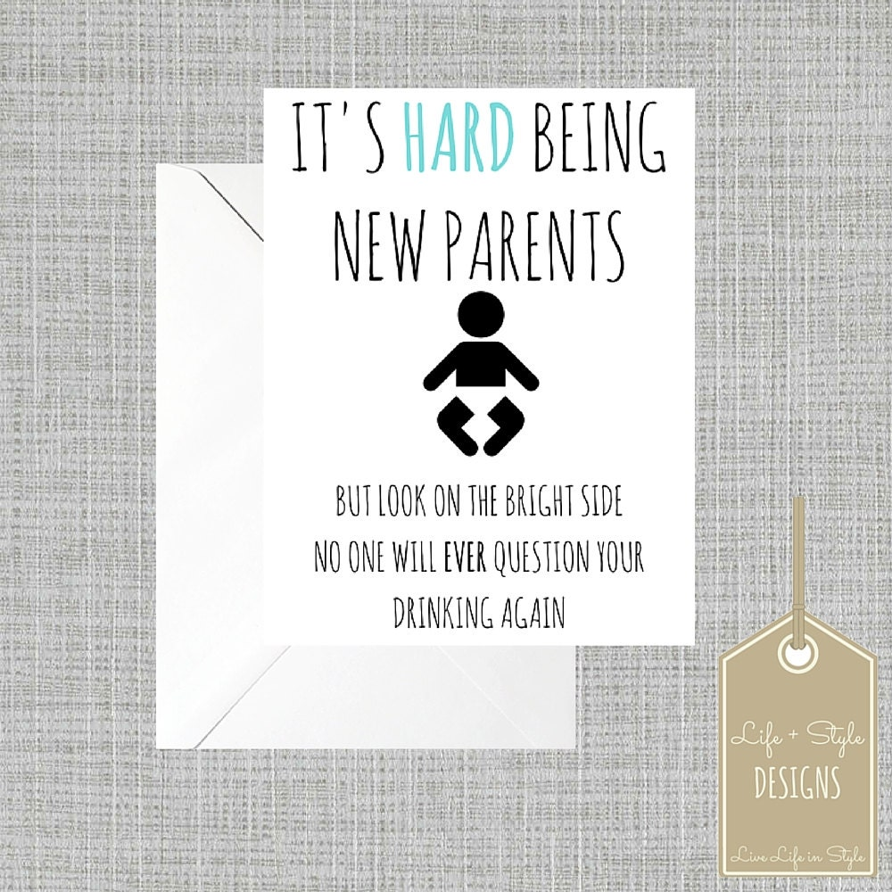 Funny Baby CardFunny New Mom CardGender Neutral Baby