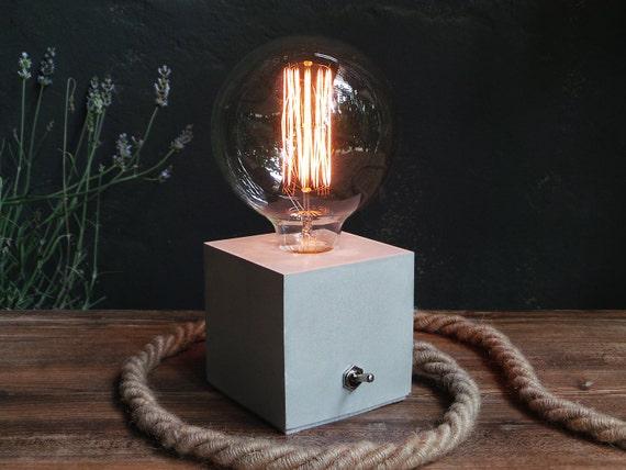 Concrete Lamp Concrete table lamp Concrete desk lamp – Desk Lamp Light Bulb