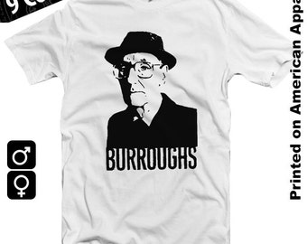 William S Burroughs American Apparel T-shirt S-XXL Naked Lunch, Jack Kerouac, Ginsberg, Literature, Cool Gift