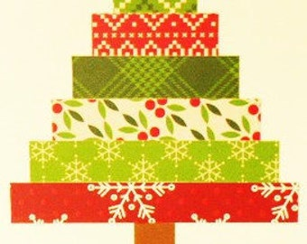 Paper Strips Christmas Tree Card