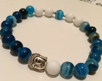 Natural Pearl with Buddha charm bracelet