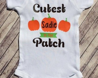 Personalized Cutest in the Patch Onesie/Shirt - 0-24 months - 2T-12