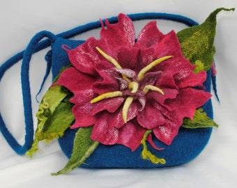 handbag / Clutch / bag / Wool felted bag / Purses