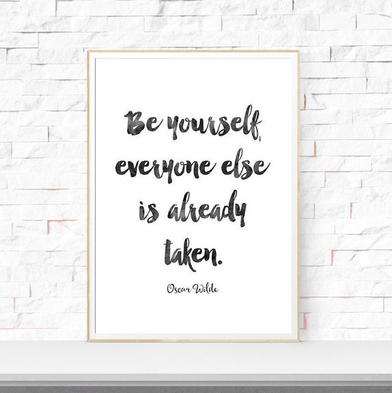 Oscar wilde quote art print wall decor print motivational home for Art and decoration oscar wilde