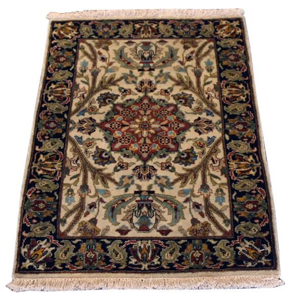 Indo Persian Tabriz Wool Area Rug: 2x3 Indo Persian Tabriz Rug Home Decor Bathroom By