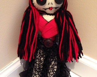 Angry Doll, Vampire Doll, Tattered Doll, Felt Vampire, Creepy Doll, Angry Vampire, Zombie Doll, Horror Doll, Haunted Doll