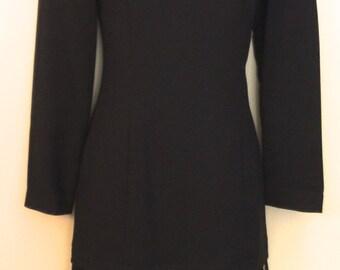 80's Drop Waist Black Dress                        VG141
