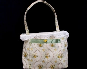 Girls Pocketbook with yellow roses