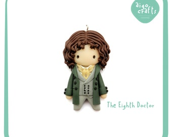 Doctor Who Polymer Clay The Fourth Doctor Tom Baker Cell Phone Charm – Classic Doctor Who Collection