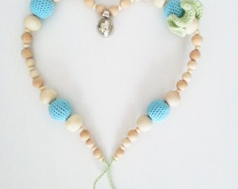 "Necklace of expectation ""Baby blue"""