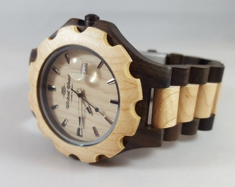 Walnut and Bamboo Wooden Watch