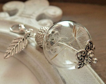 Jewel Pendant Dandelion Leaf