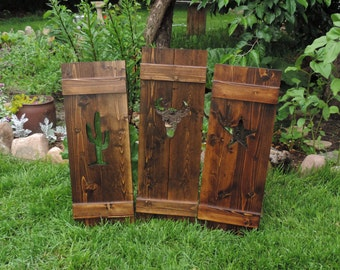 Rustic shutters window shutters wood by bluefrogwoodworking - Decorative interior wall shutters ...