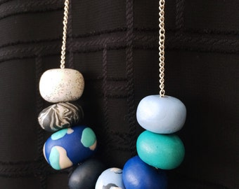Custom 8 Bead Necklace // Polymer Clay Necklace