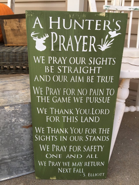 Rustic Wood Sign Hunting Decor Prayer Sign Cabin Decor