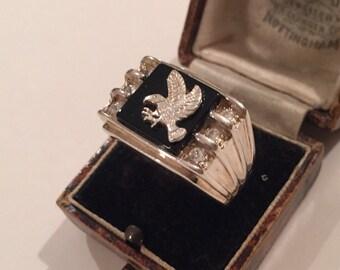 Vintage Silver Eagle ring, great design