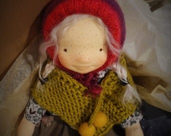 "April - 17"" OOAK Waldorf inspired handmade cloth doll"