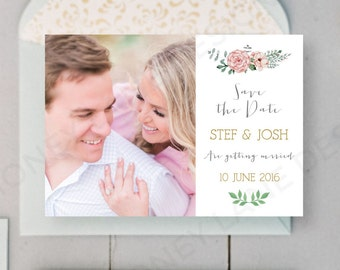 Personalised Printable, Save-the-Date-Printable Card - Stef Collection