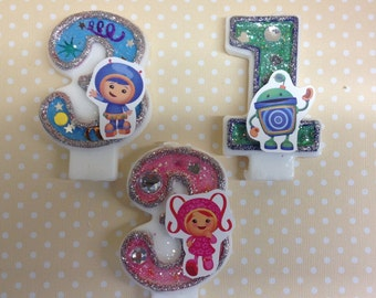 Team Umizoomi Birthday Party Number Candle