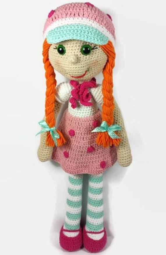 ON SALE Crochet doll amigurumi doll strawberry doll