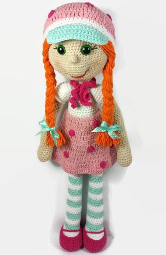 Crochet Amigurumi Doll Clothes : ON SALE Crochet doll amigurumi doll strawberry doll