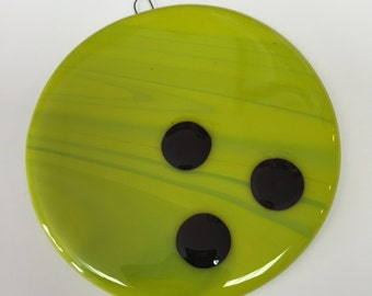 Bowling Ball Fused Glass Ornament