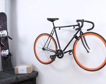 Copenhagen  - wooden bike hooks/ bike storage / wall bike rack  / White
